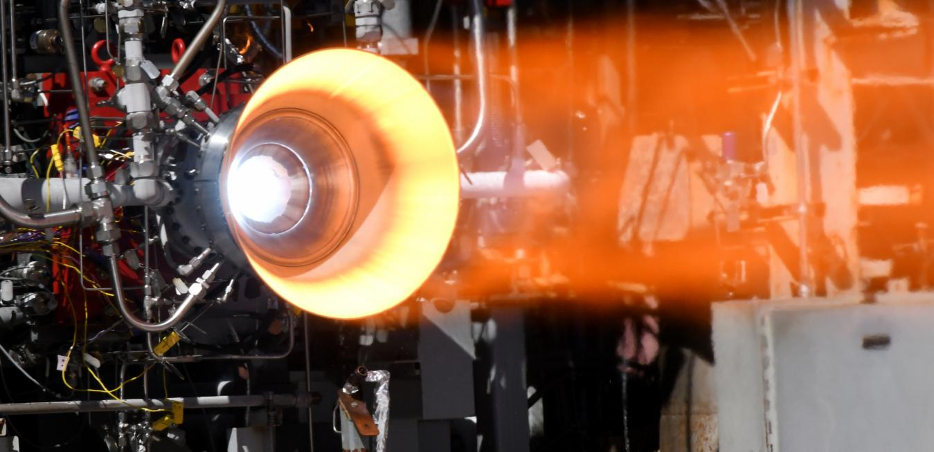 Example of a NASA rocket engine with 3D printed engine parts