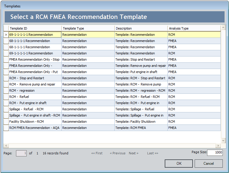 Creating New Fmea Analysis Nodes From An Fmea Template