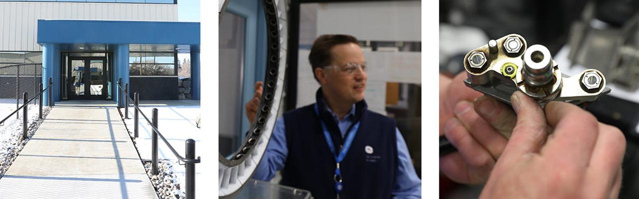 GE Aviation's Muskegon campus manufactures high-pressure nozzles for aircraft engines