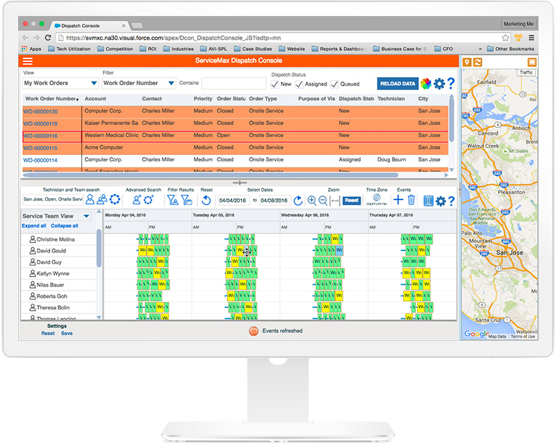 Field Service Management screenshot from ServiceMax by GE Digital