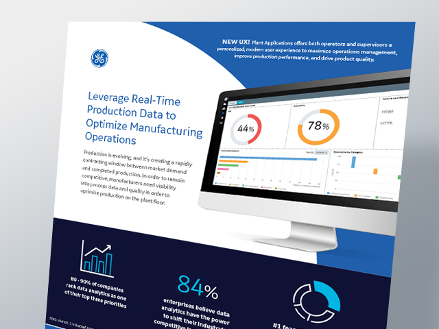 Leverage Real-Time Production Data to Optimize Manufacturing Operations