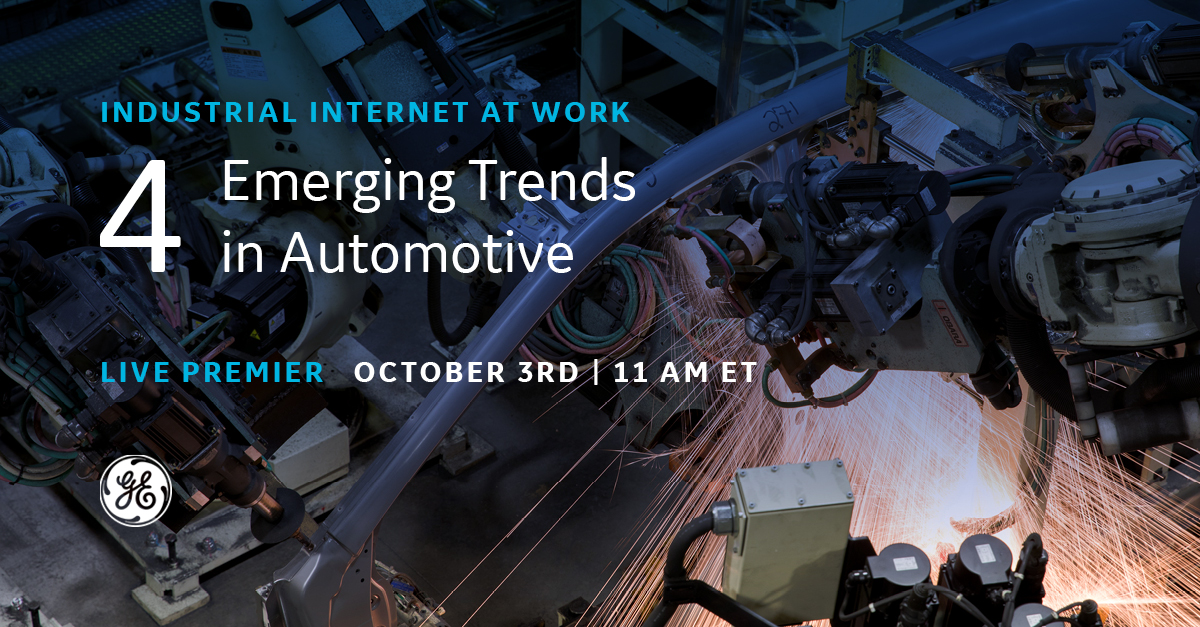 Emerging trends in automotive industry, GE Digital