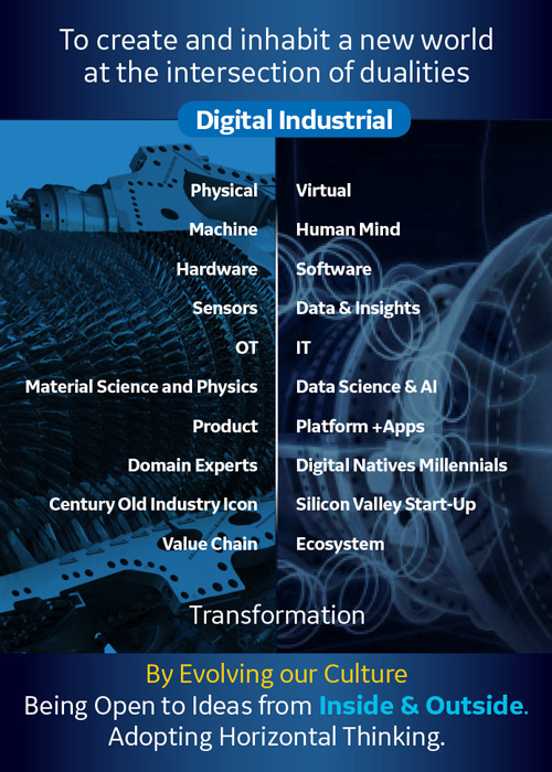 Digital Industrial graphic for digital transformation