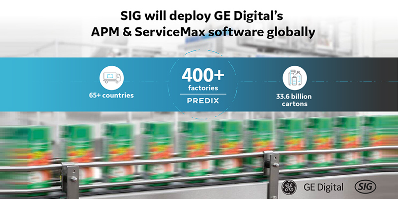 SIG will deploy GE Digital's Asset Performance Management and ServiceMax software globally