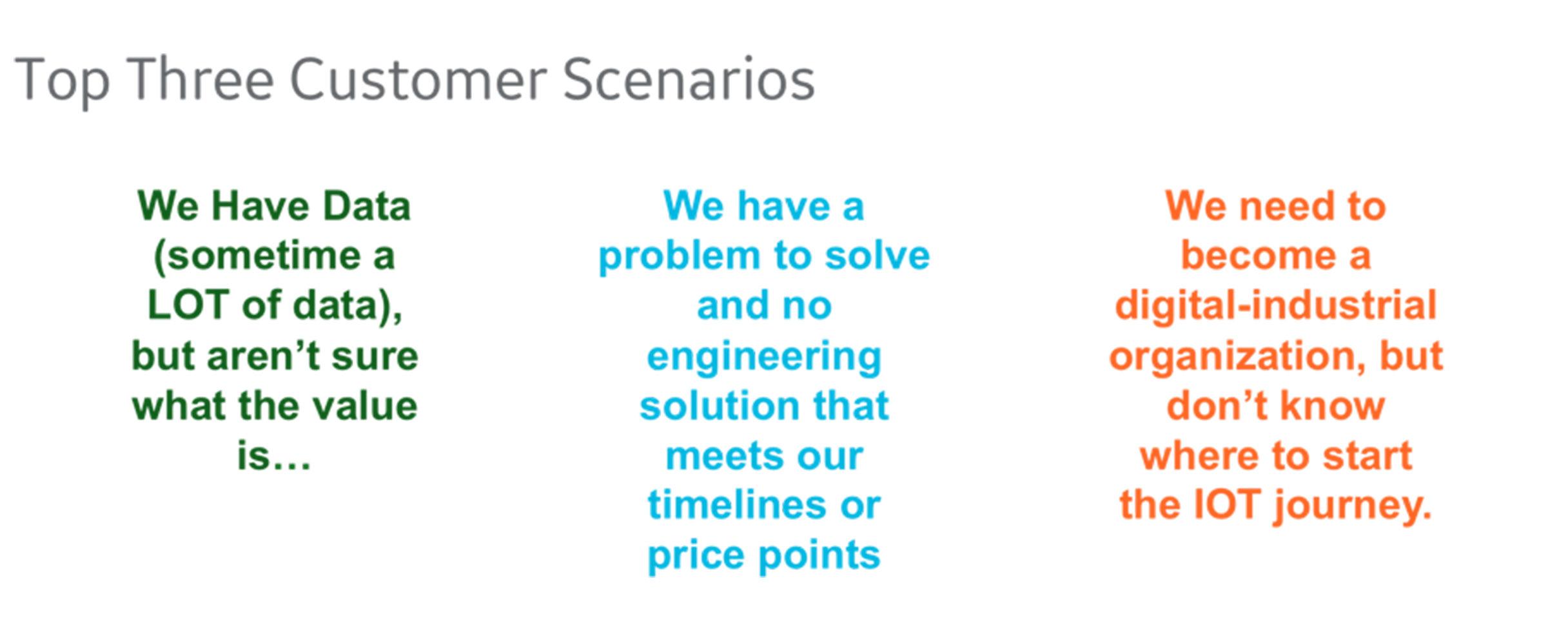 Data science blog, top three customer scenarios