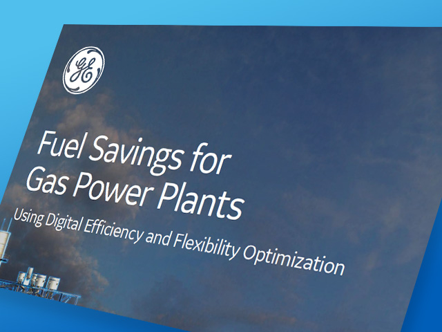 Fuel Savings for Gas Power Plants | GE Digital White Paper