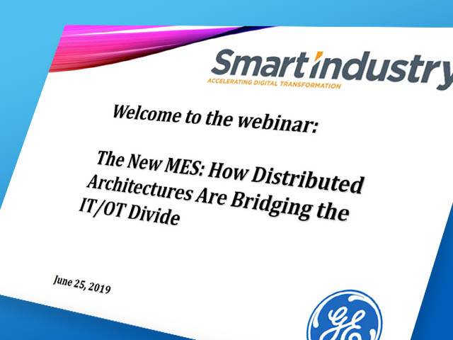New MES Webinar | GE Digital