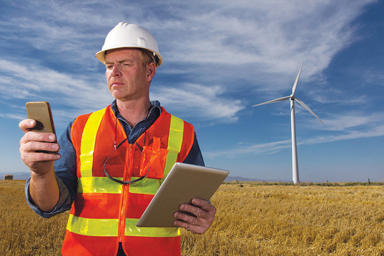 Utility worker | mobile industrial software | GE