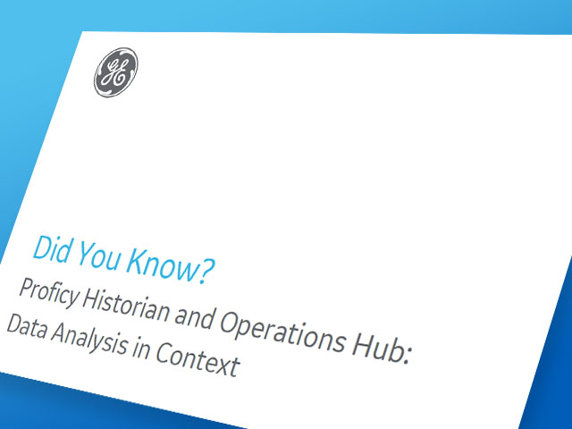 Proficy Historian and Operations Hub White Paper | Thumbnail