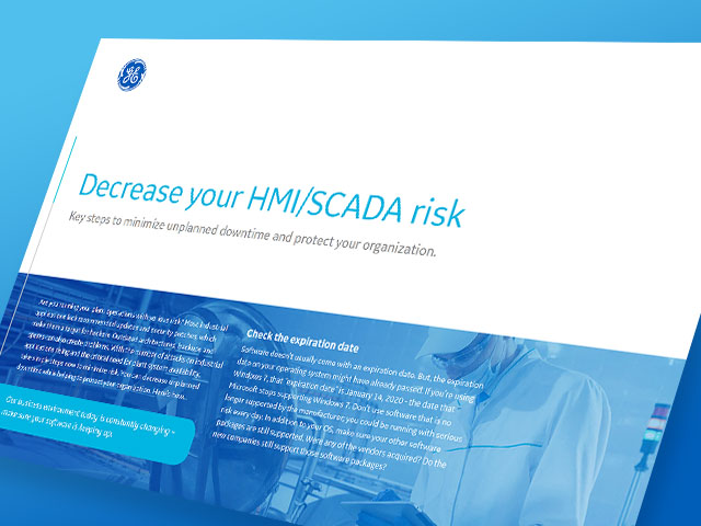 Decrease Your HMI/SCADA Risk | GE Digital | White paper thumbnail