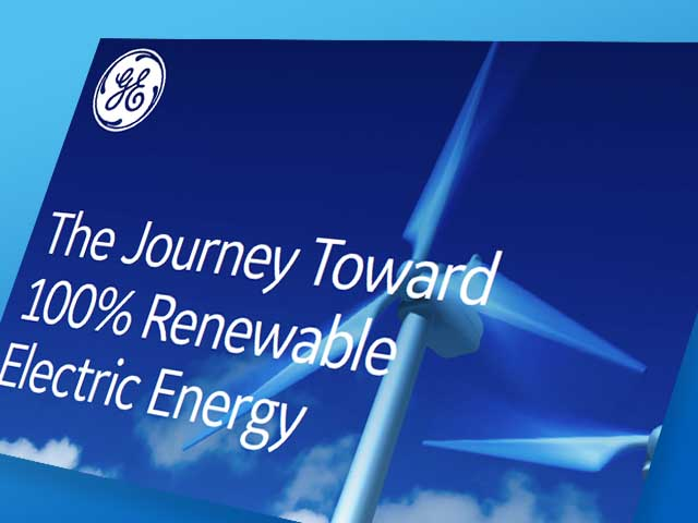 The Journey Toward 100% Renewable Energy | GE Digital | White paper