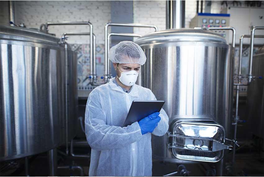 Food scientist using GE Digital HMI/SCADA software