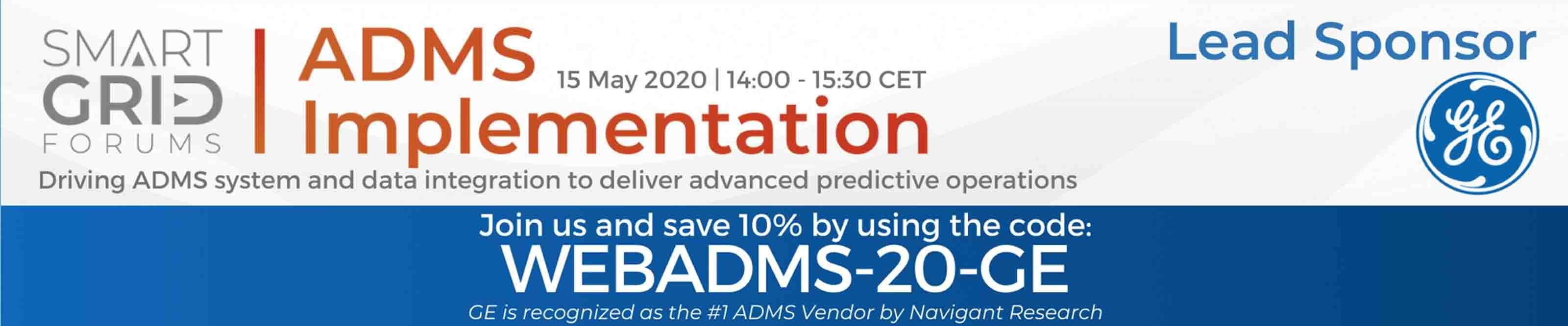 ADMS Implementation | GE Digital Lead Sponsor | Event