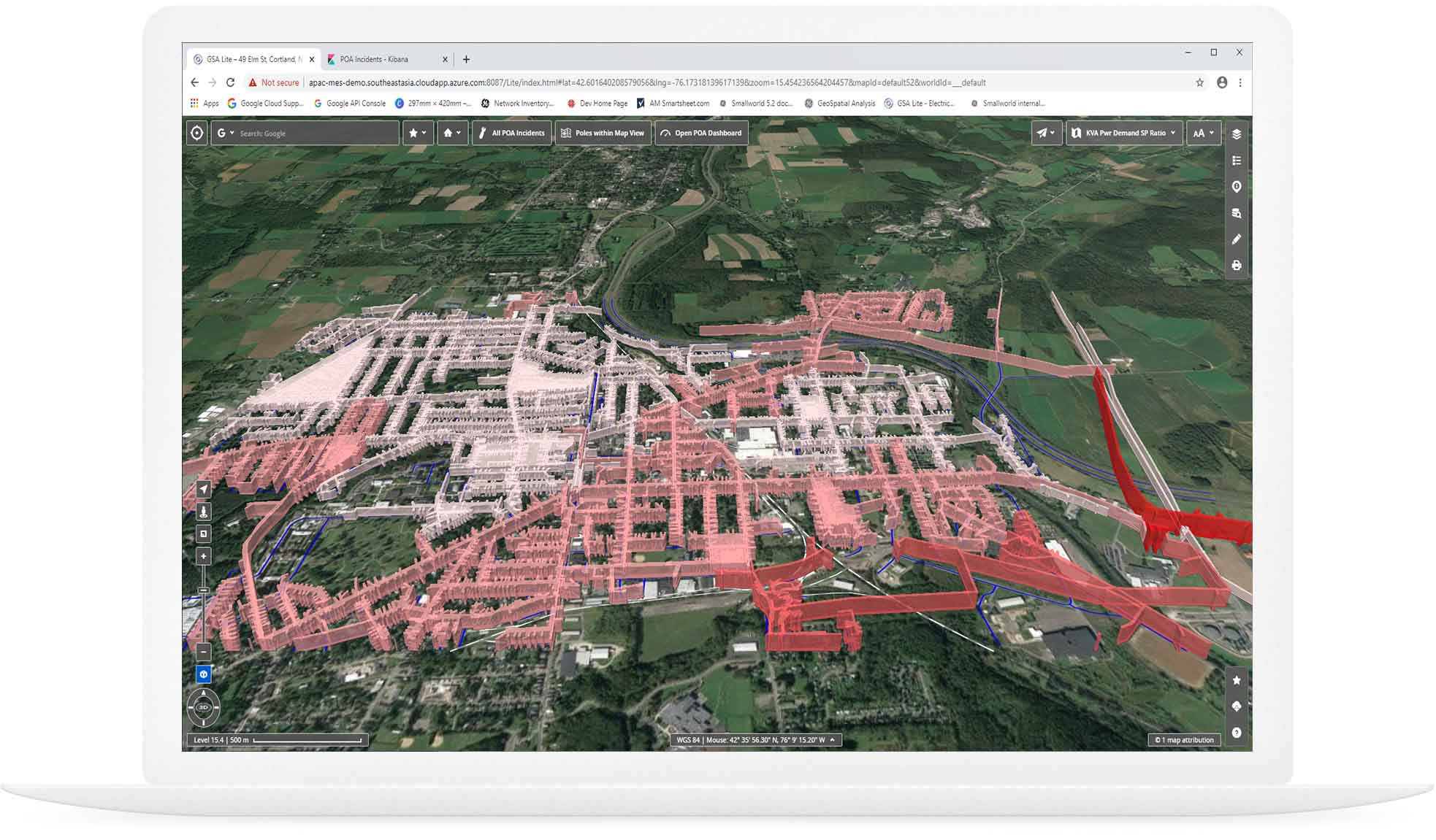 geospatial analysis screenshot  | GE Digital