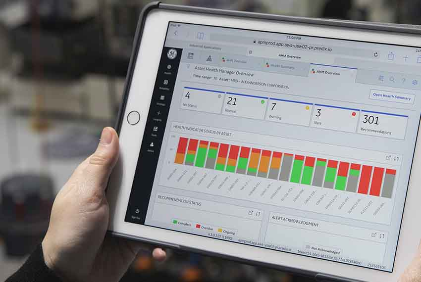 Asset Performance Management (APM) screen | GE Digital software