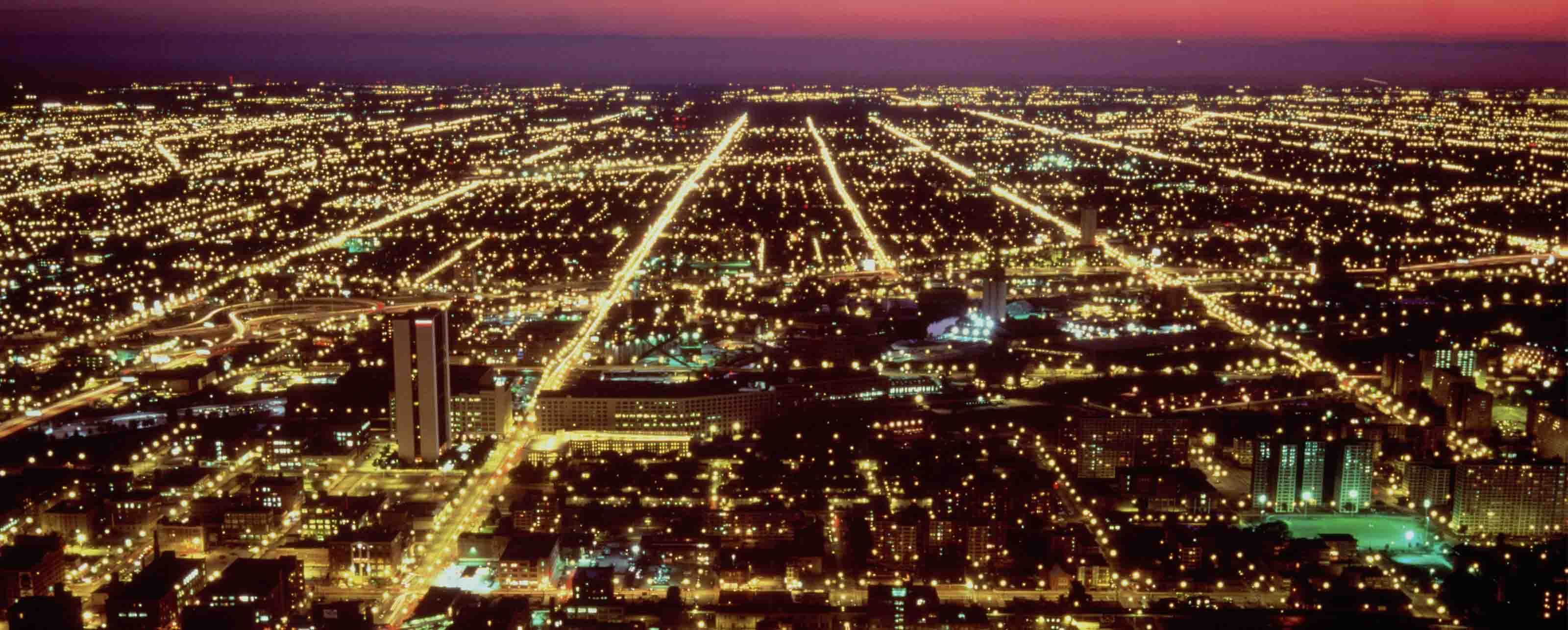 GE Digital software helps utilities control the grid, lighting up the night sky