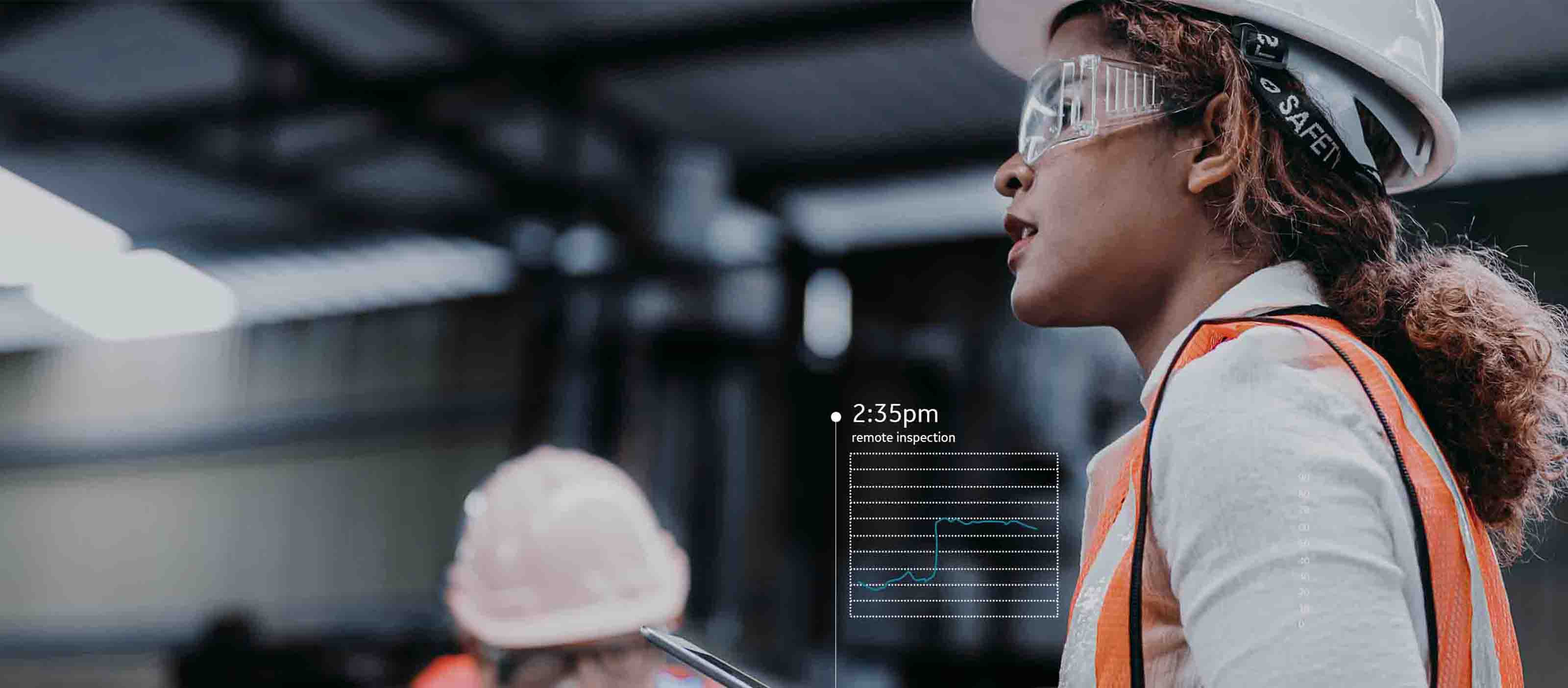 Digital worker with predictive maintenance figures from gE Digital software