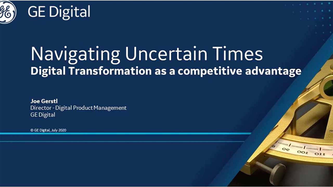 Digital Transformation webinar | MES by GE Digital