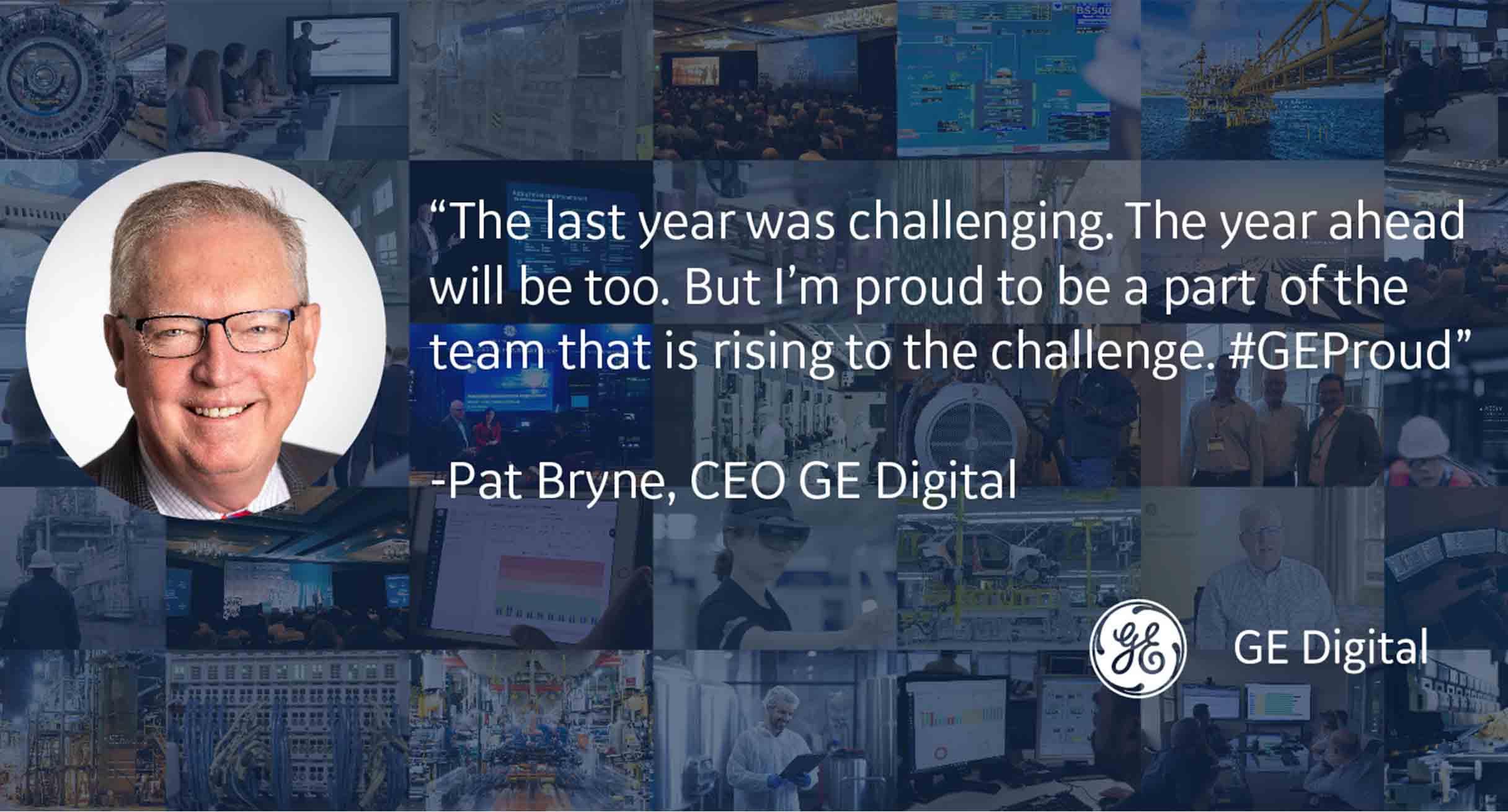 Pat Byrne, GE Digital CEO, summarizing first year