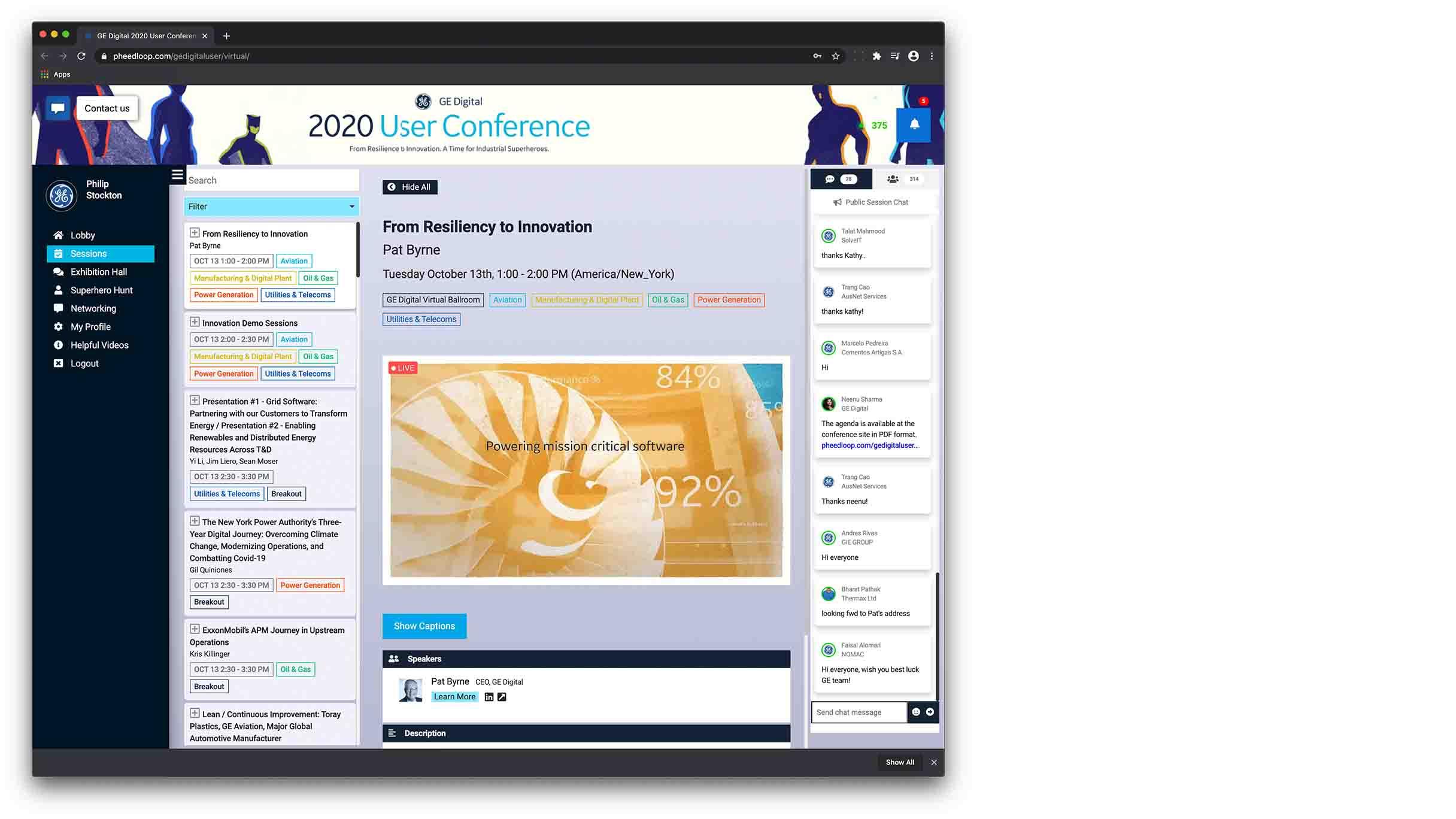 Virtual User Conference 2020 | GE Digital