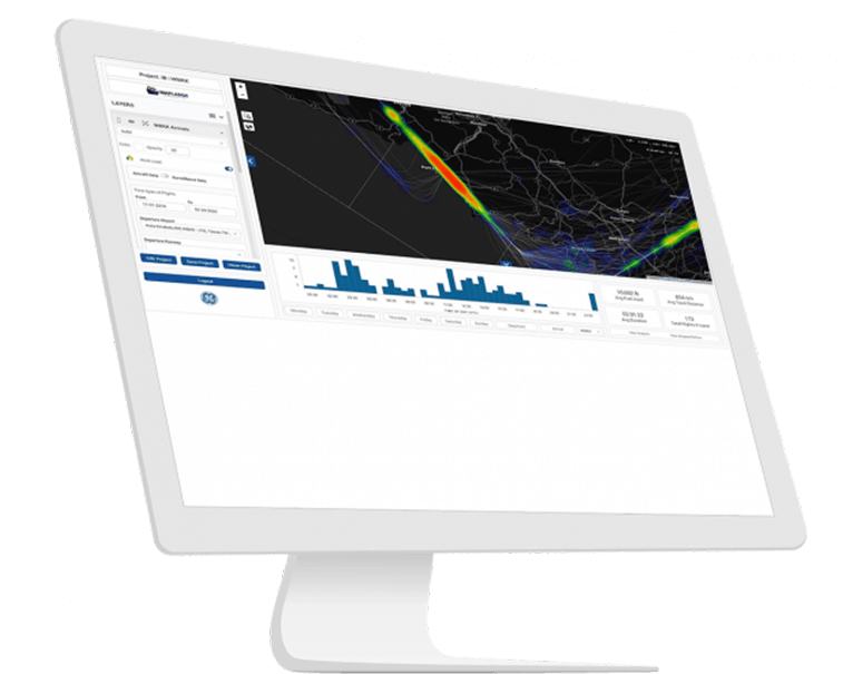 Reduce inefficient air time with Airspace Analytics software from GE Digital