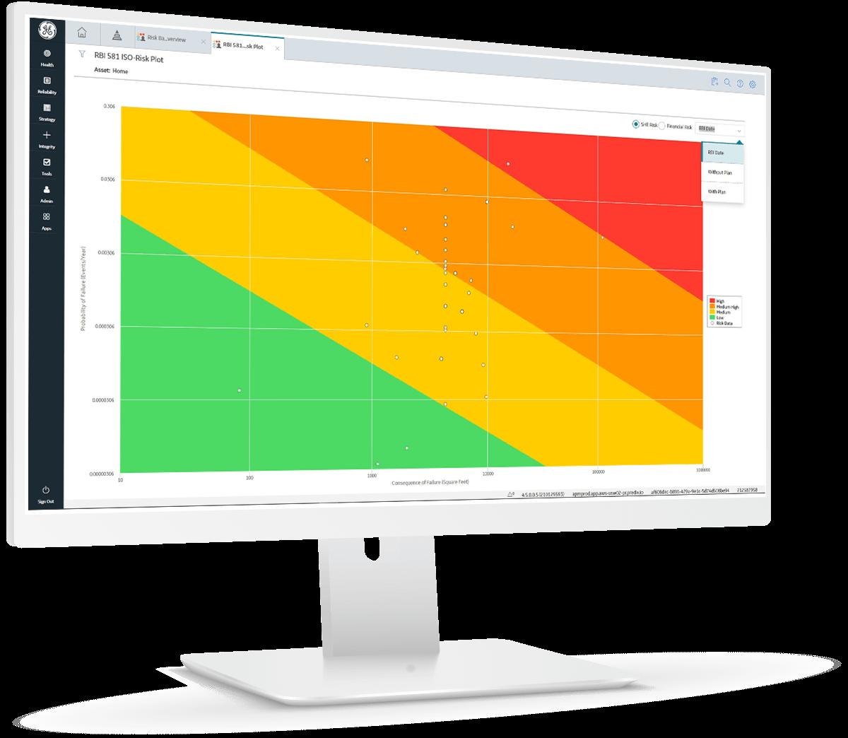 GE Digital's APM Integrity software enables risk-based inspection strategies