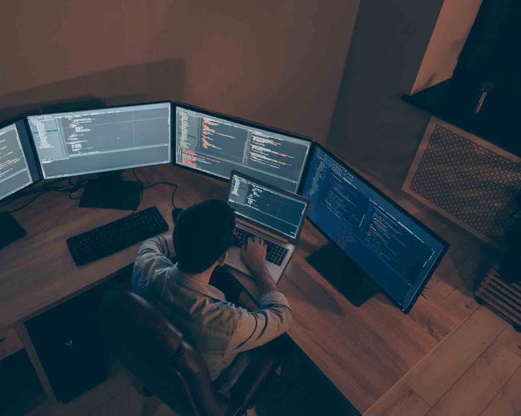 GE Digital software in an industrial control room