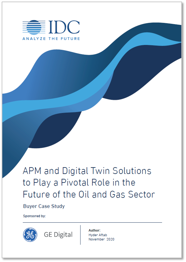IDC report: APM and Digital Twin Solutions to Play a Pivotal Role in the Future of the O&G Sector