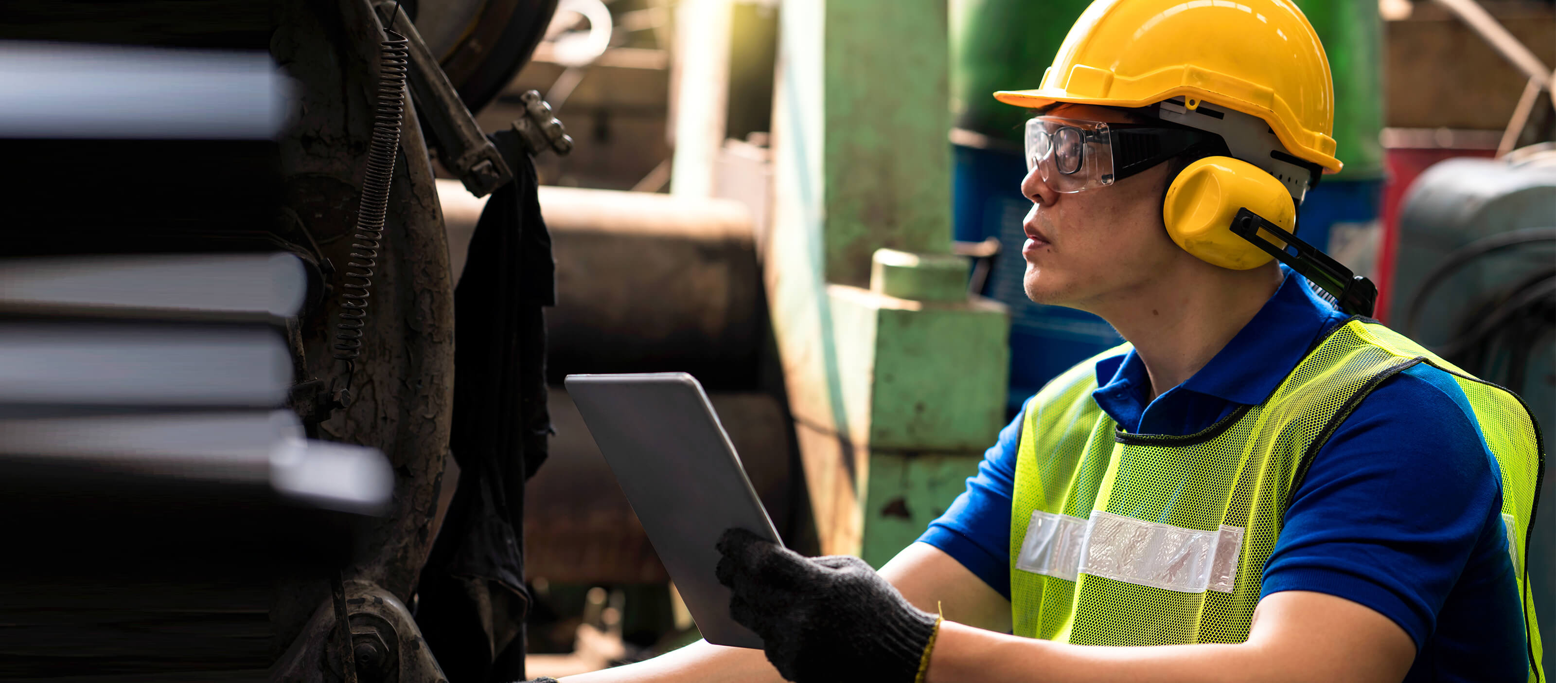 Industrial engineer using GE Digital automation software