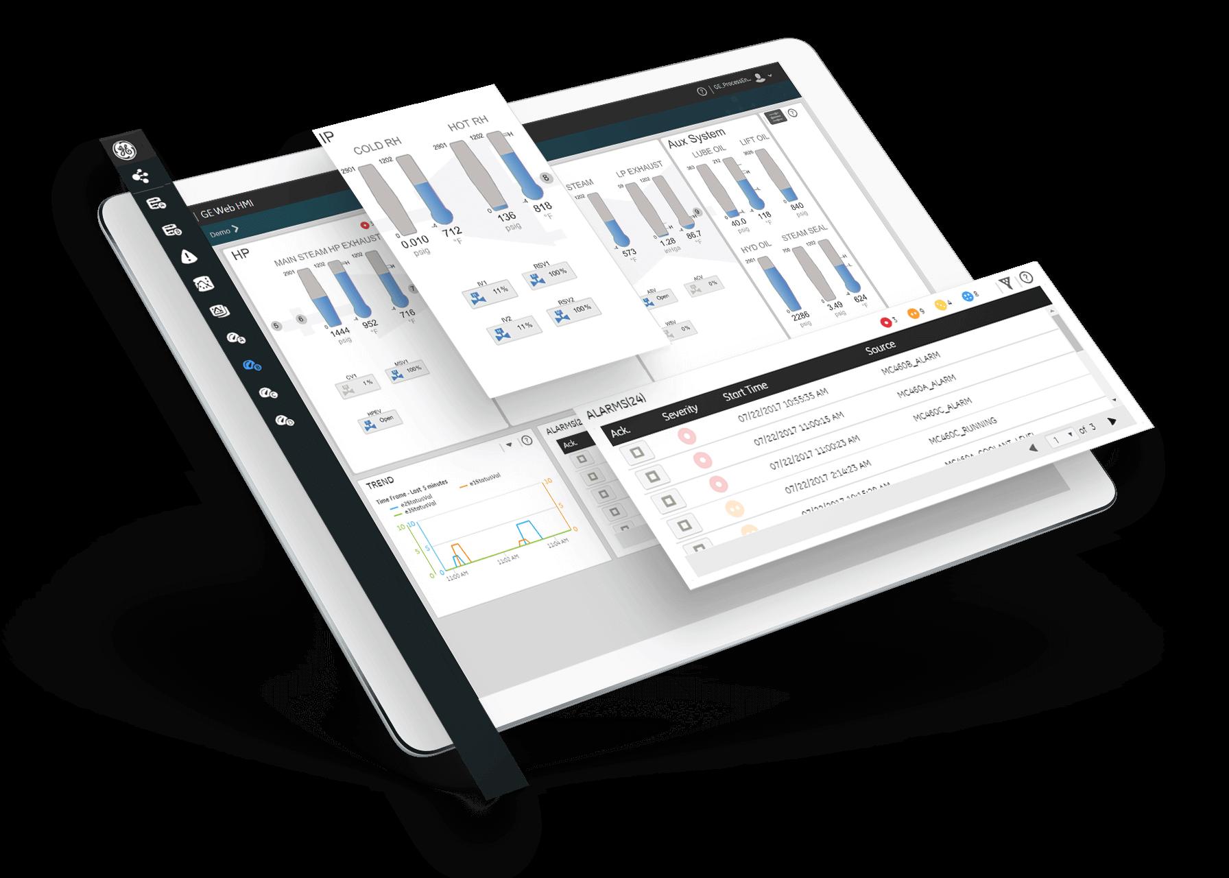 HMI/SCADA software from GE Digital | Screenshot for alarm managementHMI/SCADA software from GE Digital | Screenshot for alarm management