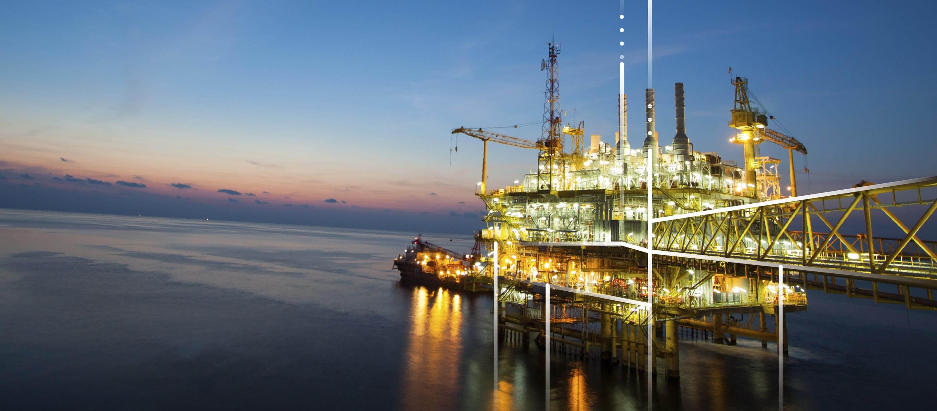Off-shore oil platformOff-shore oil platform