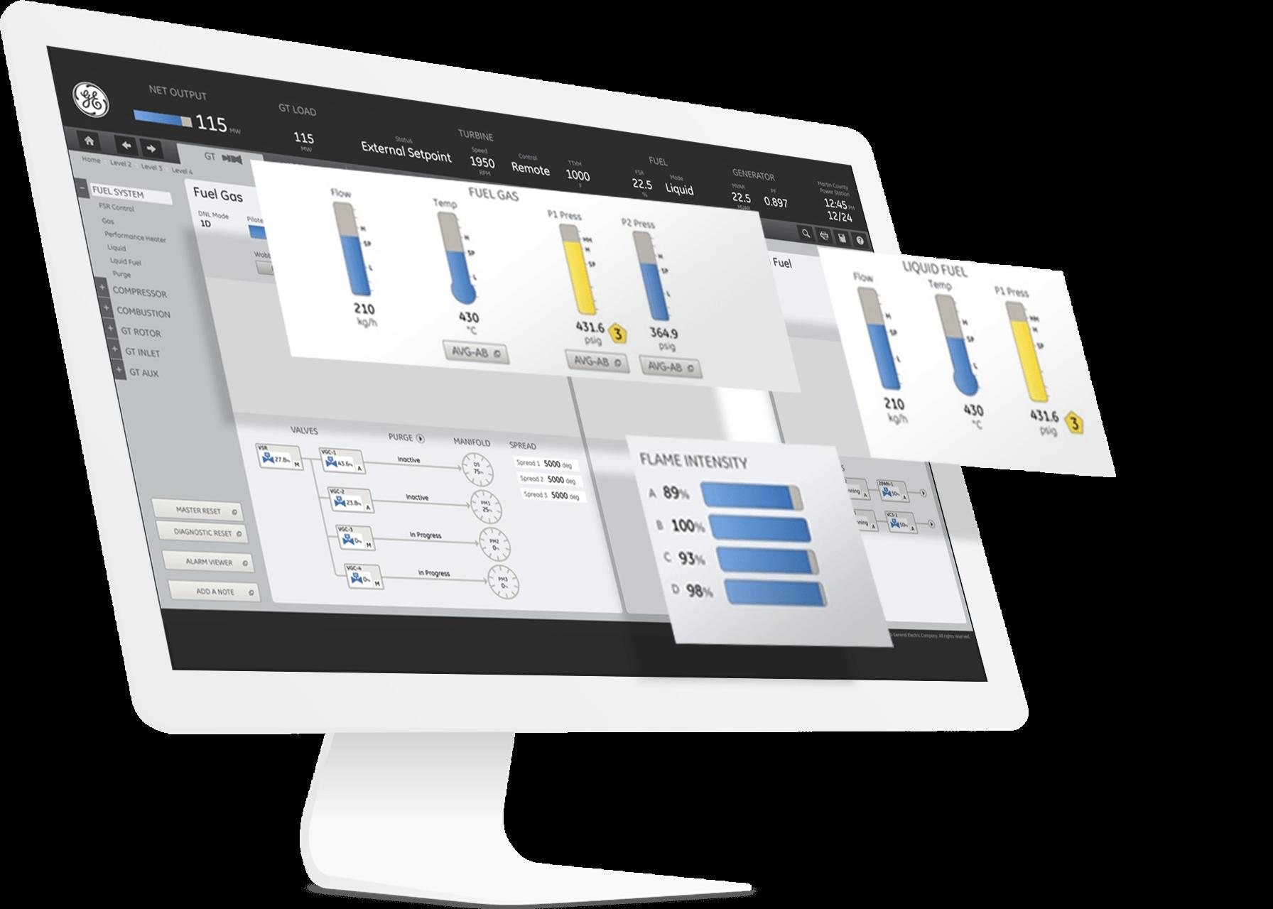 CIMPLICITY SCADA software screenshot   client-server visualization