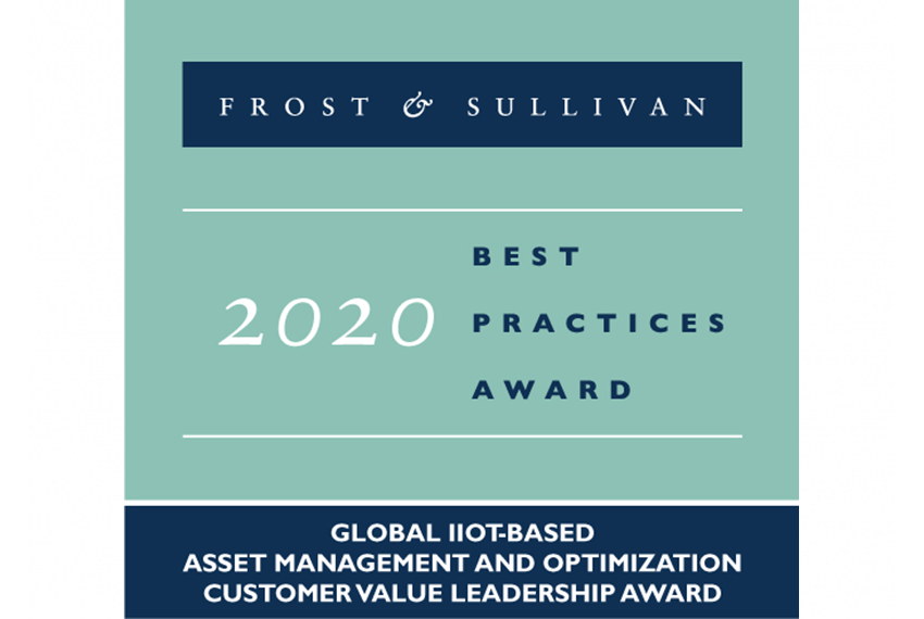 Awarded by Frost & Sullivan for Global IIoT-based Asset Management and Optimization