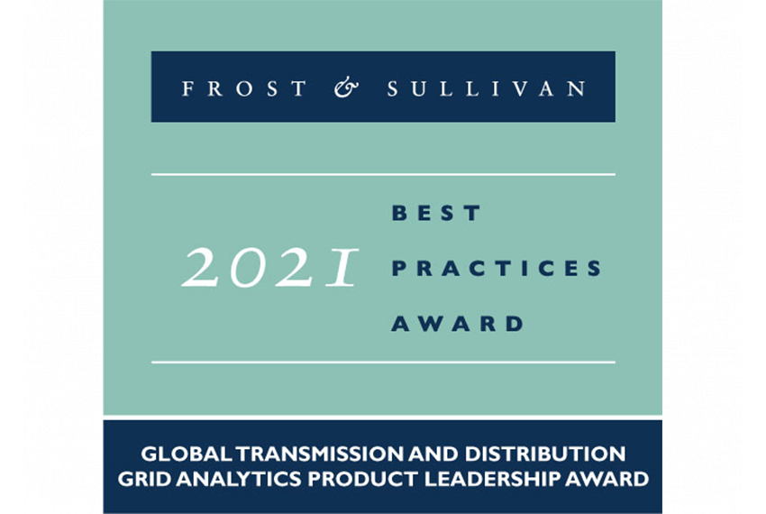 Awarded by Frost & Sullivan for Global Transmission and Distribution Grid Analytics