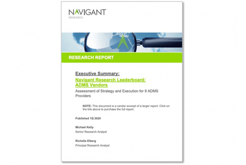 Navigant Research Leaderboard: GE rated #1 ADMS Solutions Provider