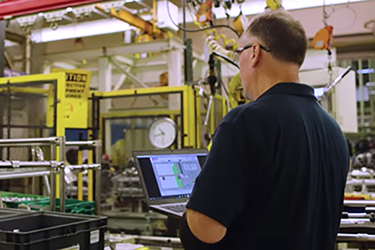Predix HMI/SCADA software from GE Digital in manufacturing plant