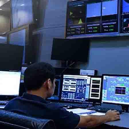 Control Room using GE Digital industrial software