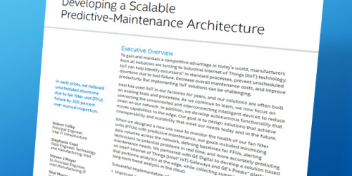 Developing a Scaleable Predictive Maintenance Architecture | Intel and GE Digital WP