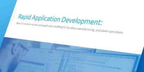 Rapid Application Development | Manufacturing white paper | GE Digital