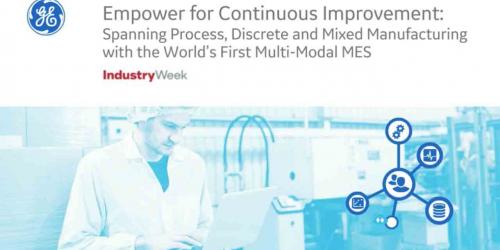First Multi-Modal MES System: GE Digital-Industry Week Webinar