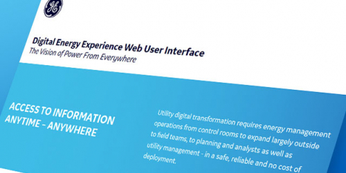 Fact sheet for web user interface for utility and grid customers from GE Digital