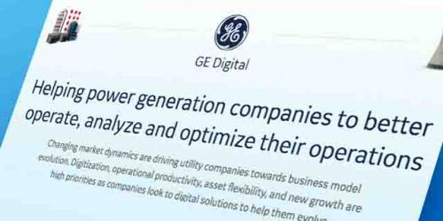 Helping power generation companies | GE Digital infographic