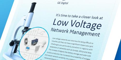 Low Voltage Network Management infographic | GE Digital