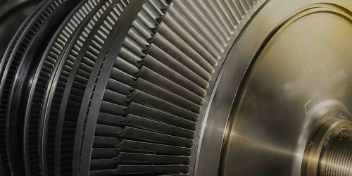 Rotor of a steam turbine in the coal-fired power plant | GE Digital