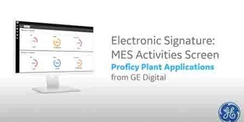 Proficy plant applications demo | GE Digital