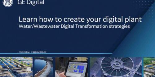 Create Your digital Plant | Water/Wastewater webinar | GE Digital