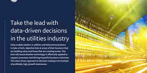 Take the lead with data-driven decisions in the utilities industry