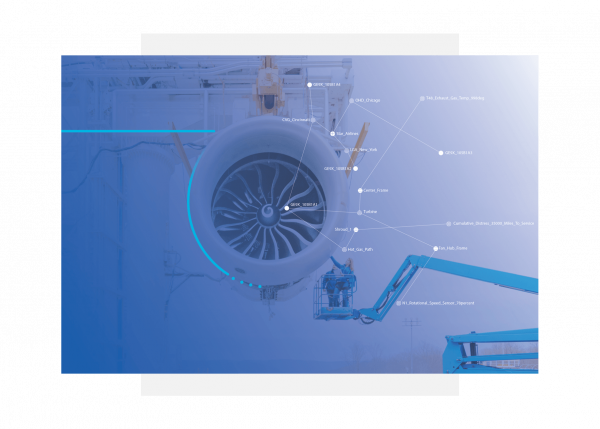 Aviation illustration showing big data capture using GE Digital's industrial apps