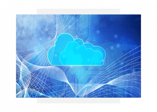 Cloud illustration for Predix Cloud for software applications from GE Digital