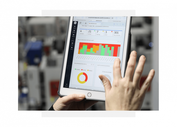 GE Digital's Predix asset performance management software screenshot on mobile device